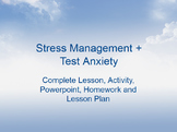 Stress Management & Test Anxiety 50-minute Lesson + Activity
