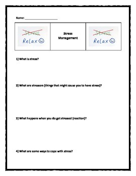 Stress Management Worksheet