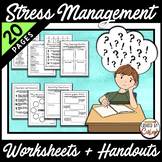 Distance Learning Stress Anxiety Worksheets and Handouts