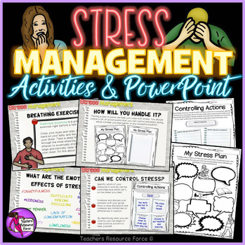 Stress Management: activities and powerpoint for teens | TpT
