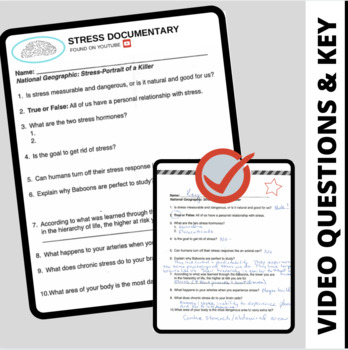 Stress Portrait Of A Killer Dvd Movie Guide Worksheet And Answer Key