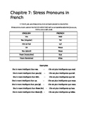 Stress Pronouns in French with Comparative Adjectives: Handout
