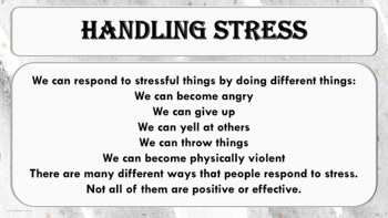 Stress Reduction - Anger Management Lesson PBIS w video links & Activity