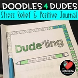 Stress Management Coloring Book and Positive Journal for Boys