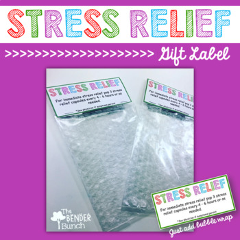 Stress Relief Gag Gift Label {Freebie}