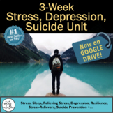Health Unit: Stress  - 2.5 Weeks of Surveys, Worksheets, P