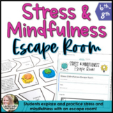 Stress and Mindfulness Escape Room Digital and Printable Activity