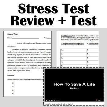 Health Lesson:  Stress-free BINGO!!