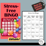 Stress BINGO | Unit Test Review and Test Included!!