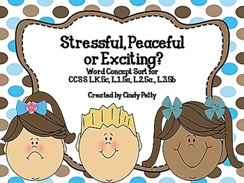 Stressful, Peaceful, or Exciting?  A Word Concept Sorting Activity