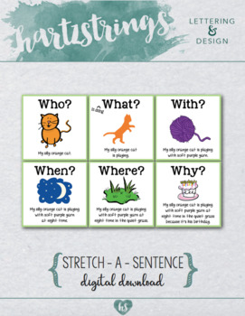 """Stretch A Sentence"" Literacy Prompt Poster"