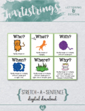 """""""Stretch A Sentence"""" Literacy Prompt Poster"""
