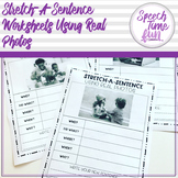 Stretch-A-Sentence Worksheets Using Real Photos