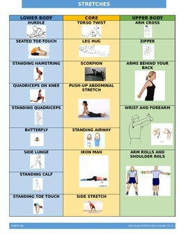 Stretch Chart for students