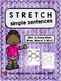 Sentence Writing for Beginners  -Stretch Simple Sentences-