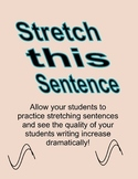 Stretch This Sentence journal- Adding details to small sentences.