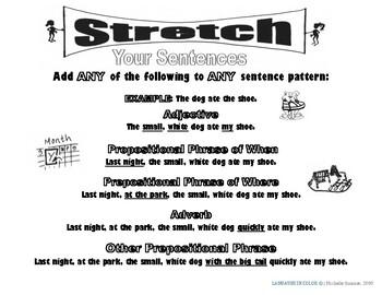 Stretch Your English Sentences (B&W) Advanced
