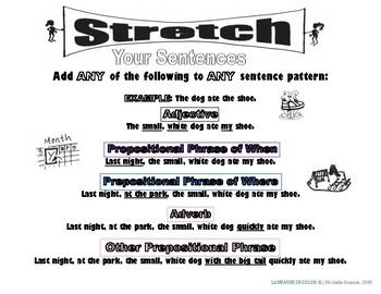 Stretch Your English Sentences (Color) Advanced