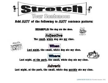 Stretch Your English Sentences (Color) Basic