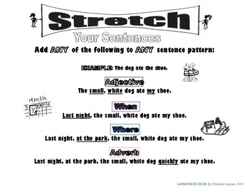 Stretch Your English Sentences (Color) Basic