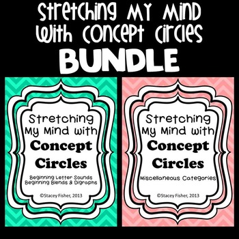 Stretching My Mind with Concept Circles BUNDLE-Letters, Shapes, Holidays, & More