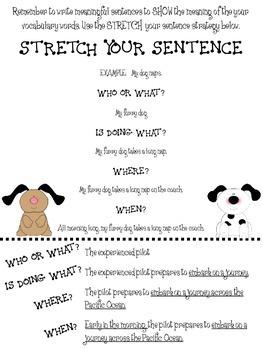 Stretch Your Sentence Activity- Sentence Fluency or Vocabulary Sentences Freebie