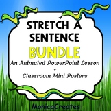 Stretch-a-Sentence LESSON and POSTERS BUNDLE FREEBIE