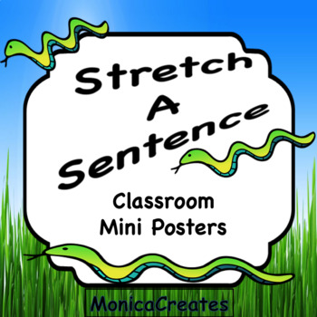 Stretch a Sentence Mini Posters