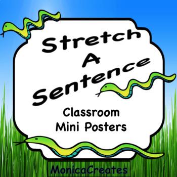 Stretch a Sentence Mini Posters