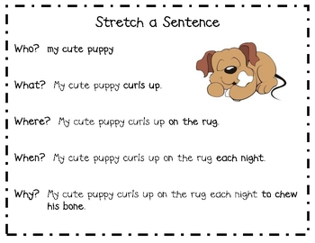 stretch a sentence poster by kimberly edgerton tpt. Black Bedroom Furniture Sets. Home Design Ideas