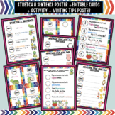 Stretch a Sentence Poster + editable Cards + Activity + Wr