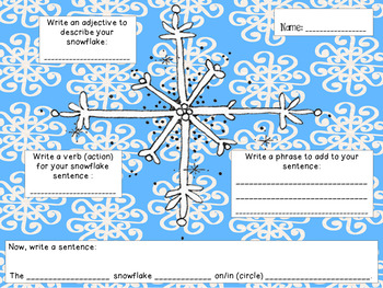 Stretch a Sentence Snowflake Activity