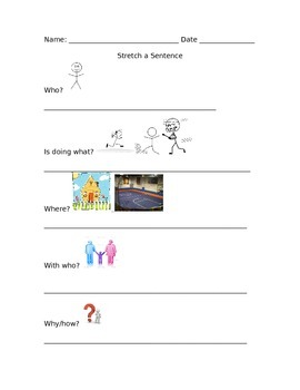 Stretch a Sentence With Pictures