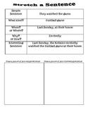 Stretch a Sentence: Writing Activity!