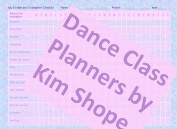 Stretch and Strengthen Checklist for Ballet, Jazz, Tap, Modern and Hip Hop
