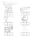 Stretching CVC word worksheet