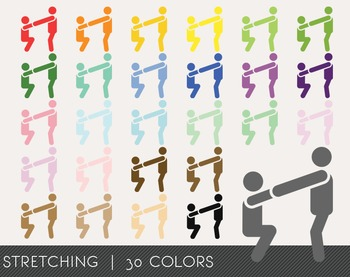 Stretching Digital Clipart, Stretching Graphics, Stretching PNG