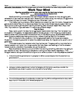 Stretching Ourselves - 5th Grade Reading Street Study Guide
