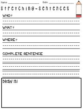 Stretching Sentences Templates in English & Spanish