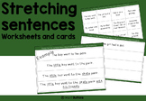 Sentence writing activities - stretching and adding detail