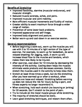 Stretching Task Cards