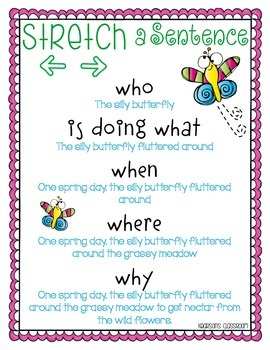 Stretching a Sentence - Butterfly Theme