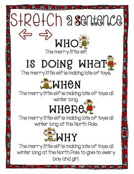 Stretching a Sentence - Elf Theme