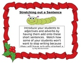 Stretching out Sentences with a Christmas Theme