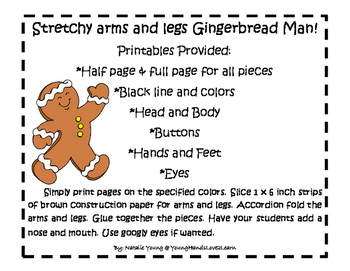 Stretchy Arms and Legs Gingerbread Man