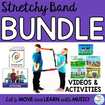 Stretchy Band Songs & Movement Activities BUNDLE: Music, PE, Team Building