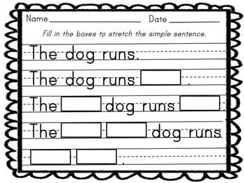 Stretchy Sentences!  Expand Simple Sentences. Build Sentences.