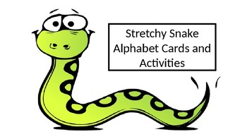 Stretchy Snake Alphabet and Activity Mats
