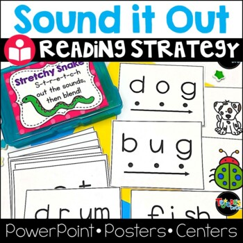 Reading Strategy: Stretchy Snake- PPT, centers, lesson plans & more!