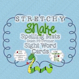 Stretchy Snake Spelling Mats & Dolch Pre & Primer Sight Wo